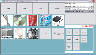 Cash Register software (POS) for touch screen